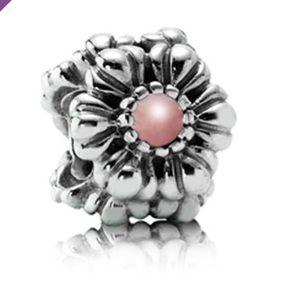 Pandora Pink Opal October Birthday Bloom Charm